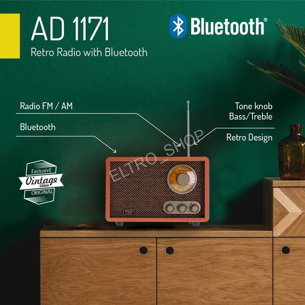 Adler AD 1171 Retro rádio s Bluetooth