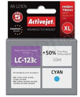 ActiveJet AB-123CN | Cyan | 10 ml | Brother LC123C, LC121C