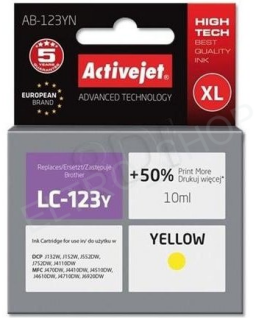 ActiveJet AB-123YN | Yellow | 10 ml | Brother LC123Y LC121Y