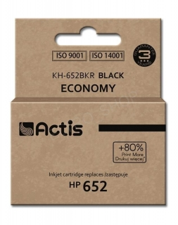 Actis Cartridge KH-652BKR Hewlett Packard HP652 F6V25AE 15ml Čierna)